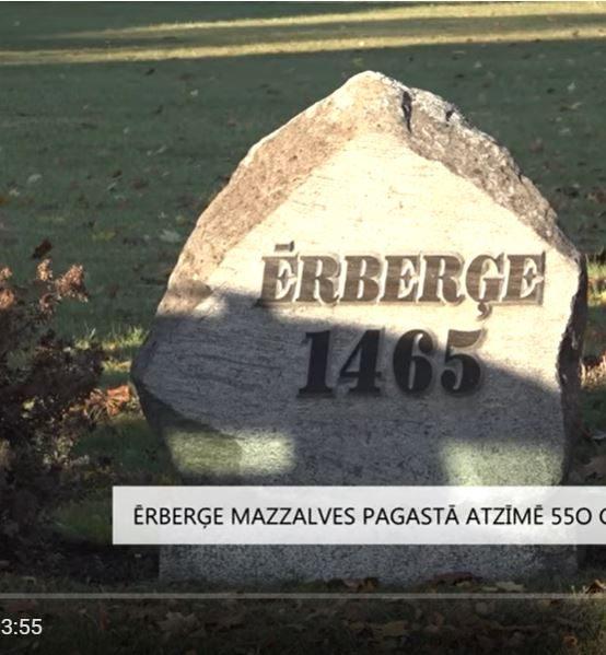 Ērberģe Mazzalves pagastā atzīmē 550 gadu jubileju (VIDEO)