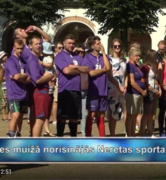 Ēberģes muižā norisinājās Neretas sporta svētki (VIDEO)