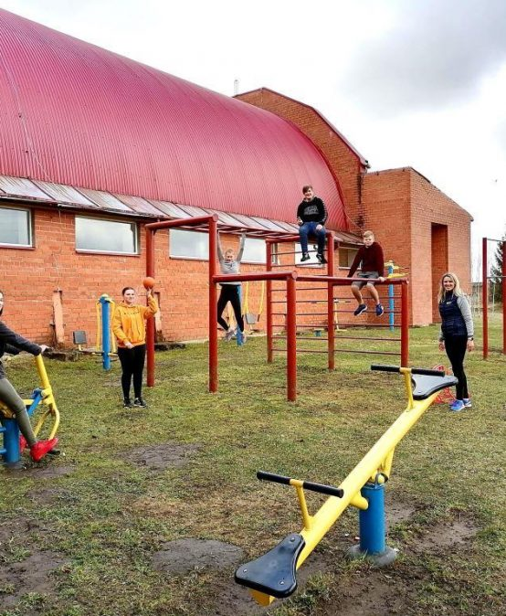 Ērberģē sporta aktivitātēm izmanto visas iespējas
